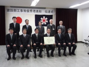 前列右から3人目が私です。その隣が池田取締役。