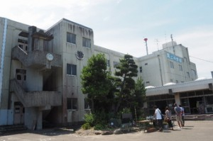 ⑧名取市閖上地区 被災した閖上中学校
