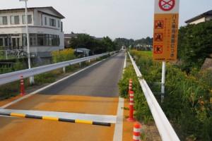 ④気仙沼 魚市場前地区 鉄道跡を利用したバス専用道路